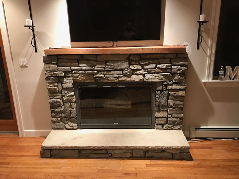 After Rebuilding Fireplace