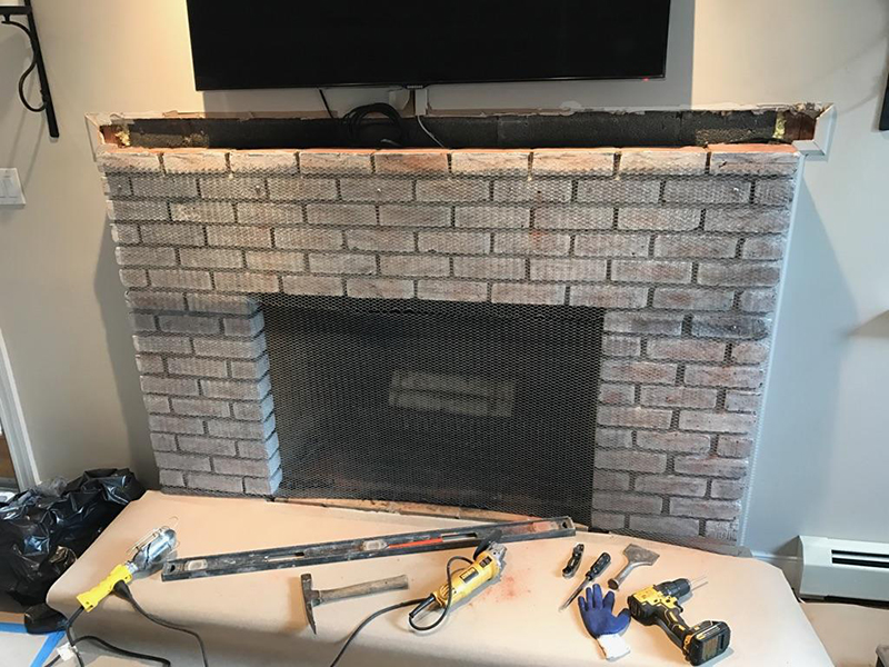 Before Rebuilding Fireplace